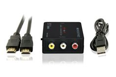 enKo Products Mini Composite HDMI To RCA CVBS AV Converter (Input: HDMI; Output: AV) For VCR DVD 720P 1080P With High-Speed HDMI Cable (6.5 Feet / 2 Meter)