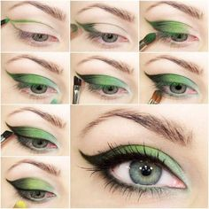 Green Attractive Eye Makeup in Simple Steps #makeup #makeupideas #makeuptutorials #greeneyesmakeup #makeupforgreeneyes #makeupideasforgreeneyes #eyeshadow #eyeshadowtutorials