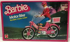 The Angry Spider Has All Of The Toys You Want For Your Collection: TAS028002 - 1983 ...  Check it out here! http://theangryspider.com/products/tas028002-1983-mattel-barbie-motor-bike-realistic-motor-noise?utm_campaign=social_autopilot&utm_source=pin&utm_medium=pin