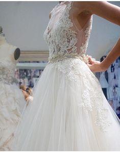 Lazaro 3607 Lazaro Wedding Dress, Wedding Dress Sleeves, Wedding Bridesmaid Dresses, Dream Wedding Dresses, Bridal Dresses, Weeding Dresses, Beautiful Wedding Gowns, Elegant Wedding Dress, Perfect Wedding Dress