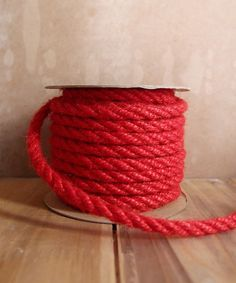6mm Red Jute Twine 10 Yards Valentines Day Decorations, Valentine Day Gifts, Christmas Decorations, Jute Twine, Lace Decor, Natural Christmas, Beaded Trim, Craft Items, Event Decor