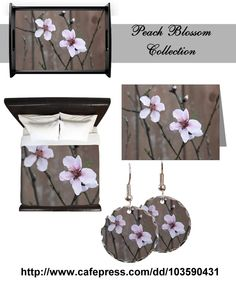 Peach Blossom collection Home Decor, Jewelry, cards and more  http://www.cafepress.com/dd/103590431  #flowers #spring #photography #mom #mothersday #giftideas #mother #peach #flower #blossoms #garden