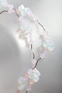 Creative Company | More Jewellery in a Jiffy: Milky pink and white crystals