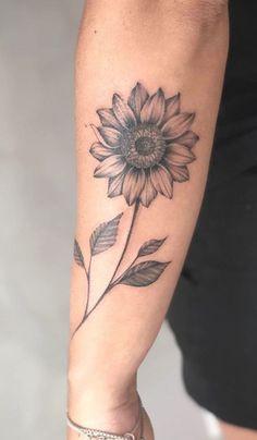 Sunflower Tattoo Meaning, Sunflower Tattoo Sleeve, Sunflower Tattoo Shoulder, Sunflower Tattoo Small, Sunflower Tattoos, Sunflower Tattoo Design, Shoulder Tattoo, White Sunflower, Sunflower Mandala Tattoo