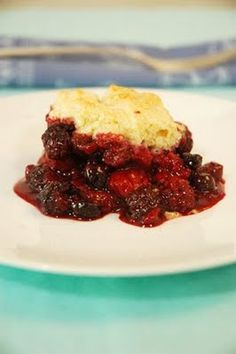 Cherry Cobbler Weight Watchers Recipe -  6 Weight Watchers Points