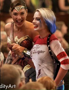 Harley Quinn. Wonder Woman.