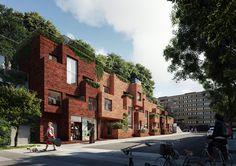 Utopia Arkitekter projeta bloco residencial com um parque na cobertura em Estocolmo