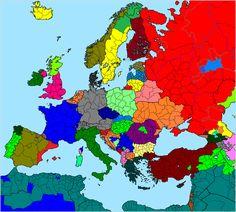 Languages of Europe based on ethnic criteria. Image source: link