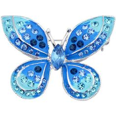 Sapphire Blue Butterfly Pins Insect Pin Brooch Fantasyard. $8.59. Other color available. Exquisitely detailed designer style. Gift box available for an additional fee. Please check out through gift-wrap option. Save 52% Off!