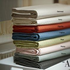 Fine Linens - Quilted Linen/Cotton Coverlet by Ann Gish