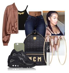 """""""Untitled #2110"""" by therealslimm ❤ liked on Polyvore featuring Miss Selfridge, MCM, Maria Francesca Pepe, Native Union, NIKE and NARS Cosmetics"""