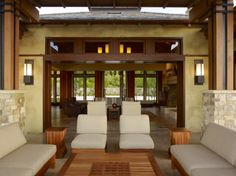 The ultimate in modular open spaces.....garage door plus size openings to the outdoors.