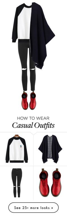 """""""#casual"""" by tallfashionesta on Polyvore featuring Topshop, Dr. Martens, Tory Burch, women's clothing, women's fashion, women, female, woman, misses and juniors"""