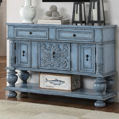 Coast to Coast Imports 2 Drawer 3 Cabinet Credenza & Reviews | Wayfair