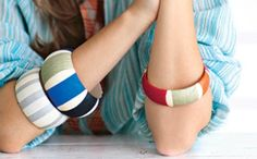 Decoupage para pulseras de madera