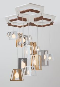 Lantern Helix Chandelier by Think Fabricate Photo