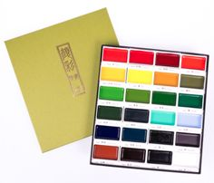 Kuretake Gansai Tambi Watercolor Palette - 24 Color Set