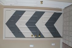 our DIY chevron door, more on the blog http://aginnandaginn.blogspot.com/2012/03/diy-chevron-door.html