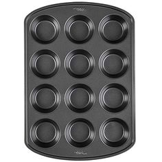 Wilton Perfect Results Premium Non-Stick Bakeware Muffin and Cupcake Pan, Standard, Silver Banana Blueberry Muffins, Chocolate Banana Muffins, Strawberry Muffins, Blue Berry Muffins, Cupcake Tray, Cupcake Cones, Pumpkin Cupcakes, Fun Cupcakes, Baking Supply Store