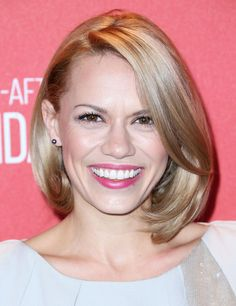 Bethany Joy Lenz B.o.B - Bethany Joy Lenz beams in her golden bob that perfectly framers her face.