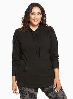Plus Size Torrid Active - Pullover Hoodie, DEEP BLACK