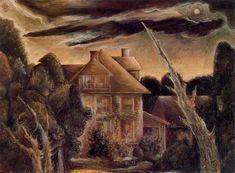 The house next door, 1934 - Albert Bloch - WikiArt.org