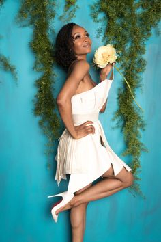 Chicago Med's Yaya Dacosta was a VISION in white at Upfronts.