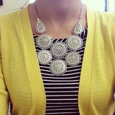 The Medina Bib necklace is office-ready | #StellaDotStyle | Stella & Dot | Find it at www.stelladot.com