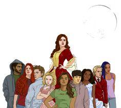 The Lunar Chronicles gang! I LOVE these interpretations! Lunar Chronicles Cinder, Lunar Chronicles Books, Marissa Meyer Books, Fan Art, Book Memes, Best Series, Book Characters, Book Nerd, Hunger Games