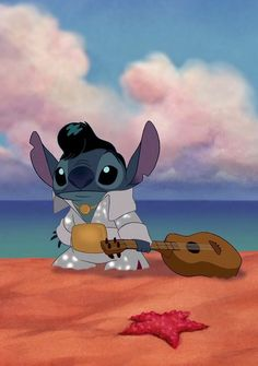 Stitch as Elvis
