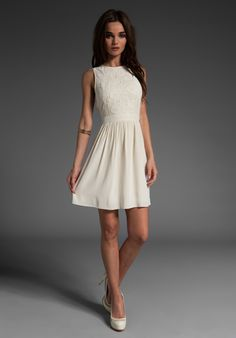 Tibi Wisteria Embroidered Sleeveless Dress