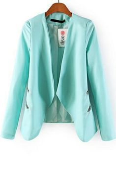 Lovely mint color on this blazer