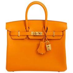 Hermès Birkin 25 Apricot Swift Ghw Top Handle Bag ac7762d2e4