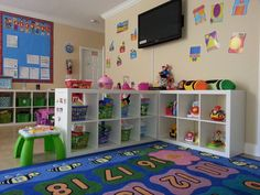 Home Daycare Ideas The Kids Place Preschool Palm Springs Fl Our in 20 Brilliant Ideas For Toddler Room In Nursery. Home Daycare Rooms, Daycare Spaces, Childcare Rooms, Preschool Rooms, Preschool At Home, Daycare Nursery, Preschool Room Layout, Childcare Decor, Toddler Daycare Rooms
