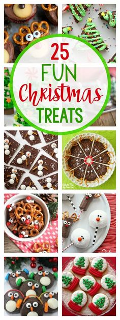 25 Fun Christmas Treat Ideas-These festive holiday treats are sure to make everyone smile. They not only taste great, they are cute too! #holidays #christmas #christmastreats #dessert #christmasfun
