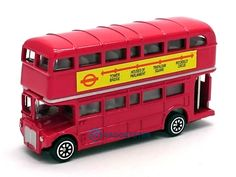 London Bus Red Double Decker Die Cast Metal Model Bus Toy Moving Wheel Action S