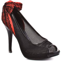 Iron Fist Women's Meshed Up Heel - Black ($45) ❤ liked on Polyvore