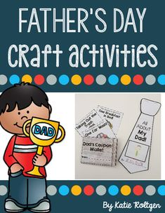 Father's Day Craft Activities {Set of Two} - These Fathers Day craftivities make great gifts! You get versions for dad, grandpa, and uncle - plus a generic version so EVERY student can celebrate a special person this June. You get a tie shape book and coupon wallet. Click through to grab this for your Kindergarten students today!