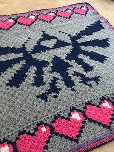 Pixel Crochet Blanket, Crochet Blanket Patterns, Baby Blanket Crochet, Crochet Motif, Crochet Designs, Knit Crochet, Crocheted Blankets, Yarn Projects, Crochet Projects