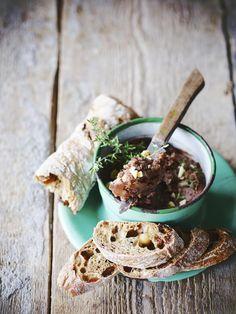 Mousse, Chestnut Recipes, Pesto Sauce, Spices, Veggies, Lunch, Bread, Vegan, Fruit