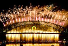 Amazing Sydney NSW fireworks 2011/2012 Harbour Bridge