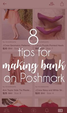 want to sell your clothes successfully? check out these 8 tips for making money on Poshmark!
