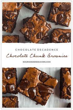 Chocolate Chunk Brownies Chocolate Chunk Brownies, Fudgy Brownies, Brownie Recipes, Dessert Recipes, Desserts, Brownie Ice Cream, Brownie Batter, Fruit Jam, Flavored Oils