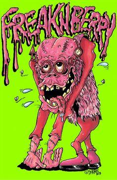Monster Art poster Freakenberry Frankenberry Parody art by Scheres