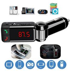 Bluetooth Car Kit FM Transmitter Hands Free Aux MP3 Player Modulator with LED Display Portable Dual USB Charger Transmissor FM