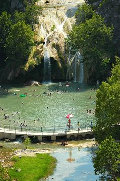 Turner Falls, Oklahoma - Google Search Originally pinned by Shelley Parris onto Favorite Places & Spaces. As a child, my family went multiple times to Turner Falls on family trips. One of our last trips was around 1978. In my own family, we went around 1992 and also had lots of fun.