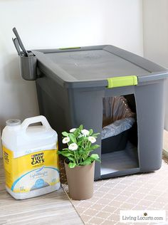 Cat Training Litter Box A DIY Cat Litter Box Holder is a simple homemade way to hide a kitty litter box. Give your cat's space a fresh makeover! Cat Litter Box Diy, Litter Box Enclosure, Cat Toilet Training, Tidy Cats, Home Decor Hacks, Cat Room, Space Cat, Pets, Cool Cats