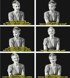 Jennifer Lawrence on her (now) infamous Oscars' Trip...love her way of thinking, lol!