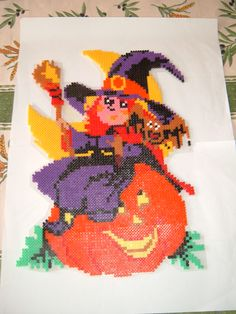 Witch - Halloween hama beads by marianne77