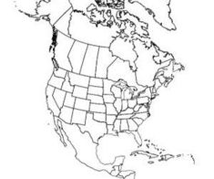 GREAT MAPS for notebooking north america outline map and
